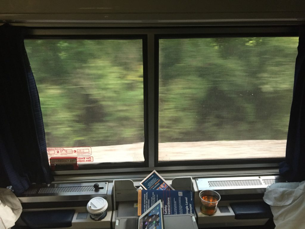 View from an Amtrak Viewliner roomette