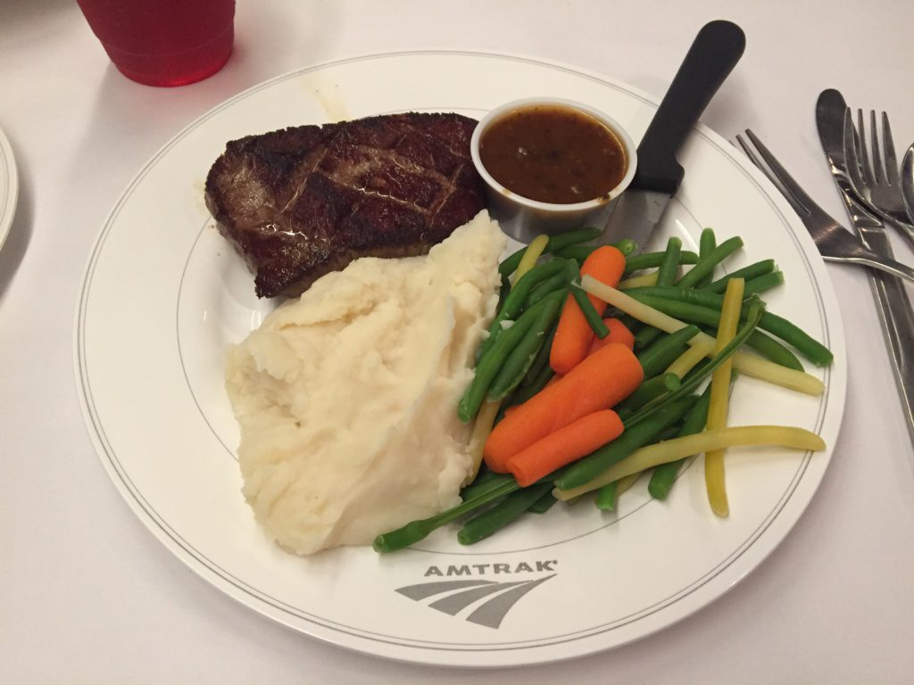 Amtrak signature stake meal