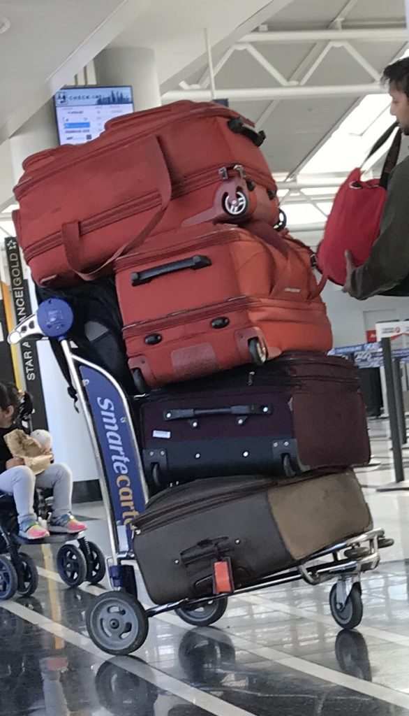 Too much luggage