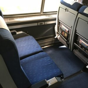 Amtrak's long-distance coach seats
