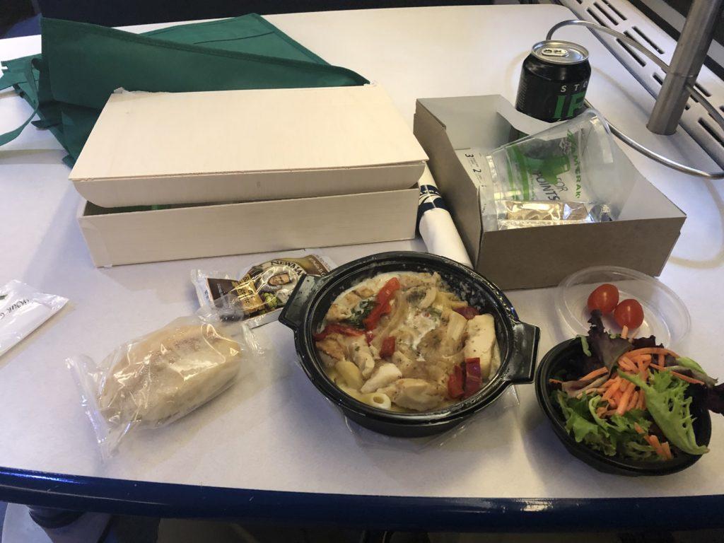 Amtrak box meal