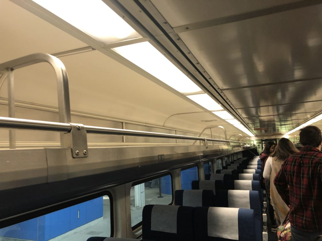 Amtrak Luggage racks