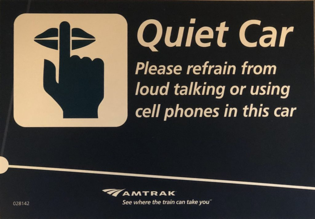 Amtrak Quiet Car