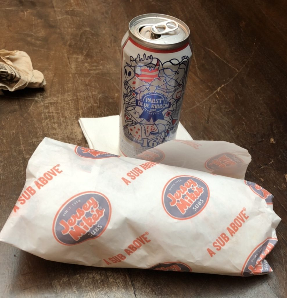 Jersey Mikes and PBR