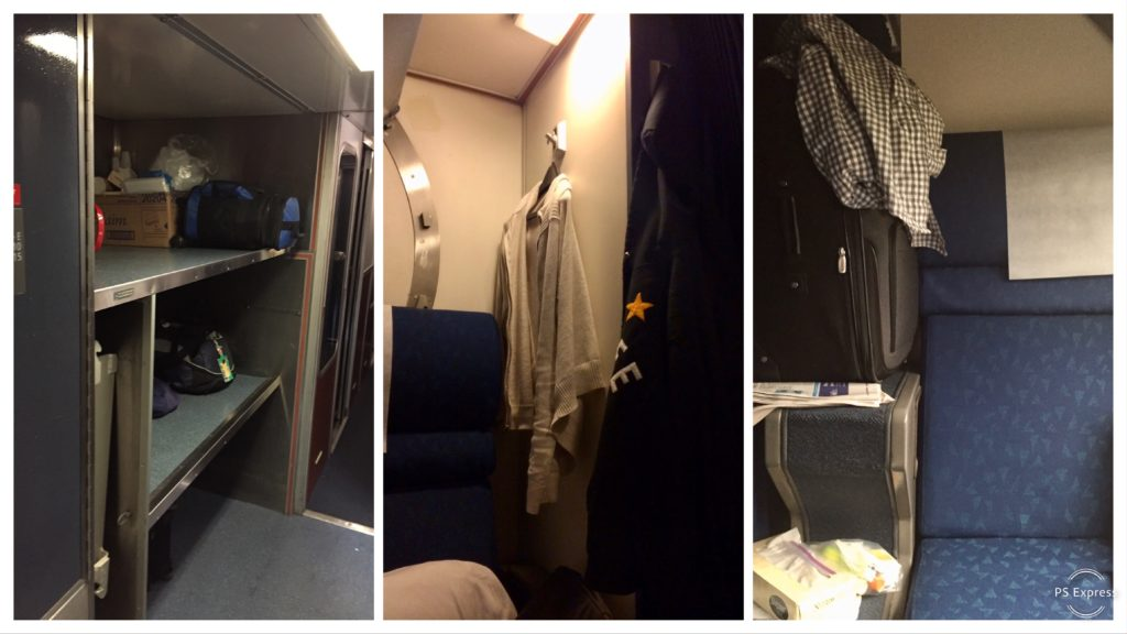Superliner Roomette storage