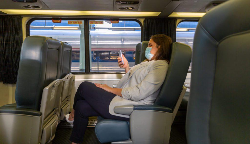 Masked passenger
