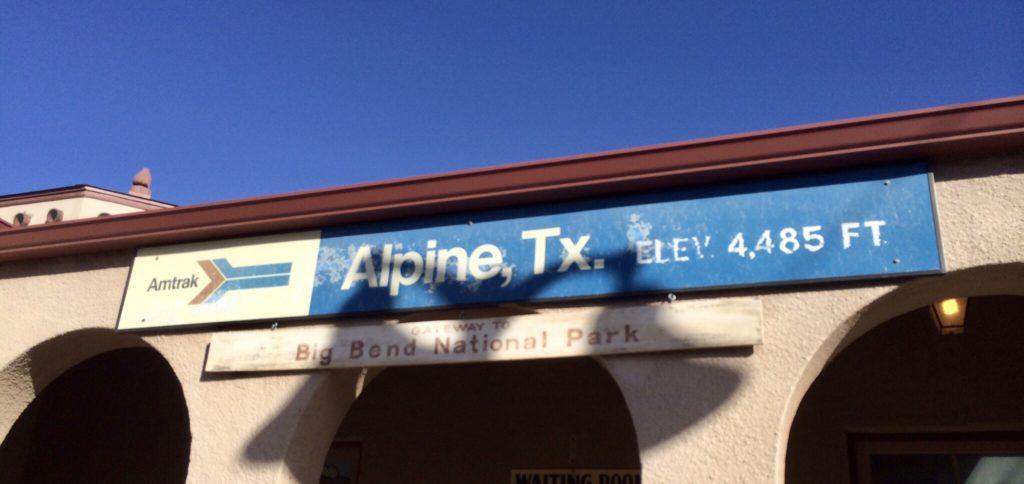 Alpine TX Amtrak