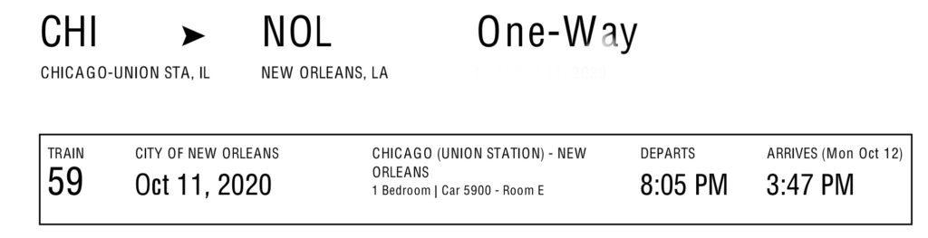 Bedroom ticket
