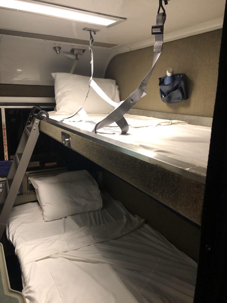 Amtrak Bedroom at night