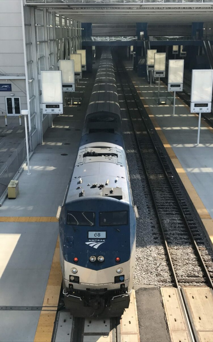 Amtrak's Hiawatha in Milwaukee, WI
