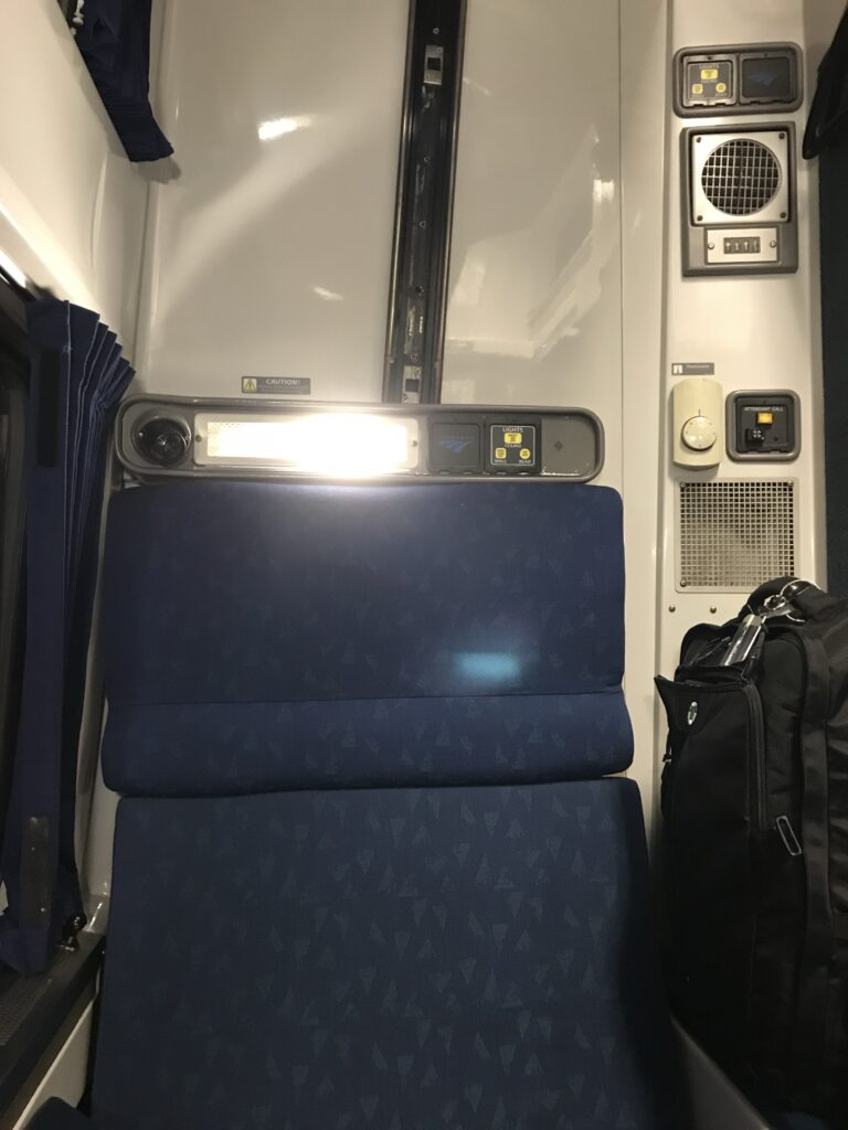 Viewliner roomette Lights