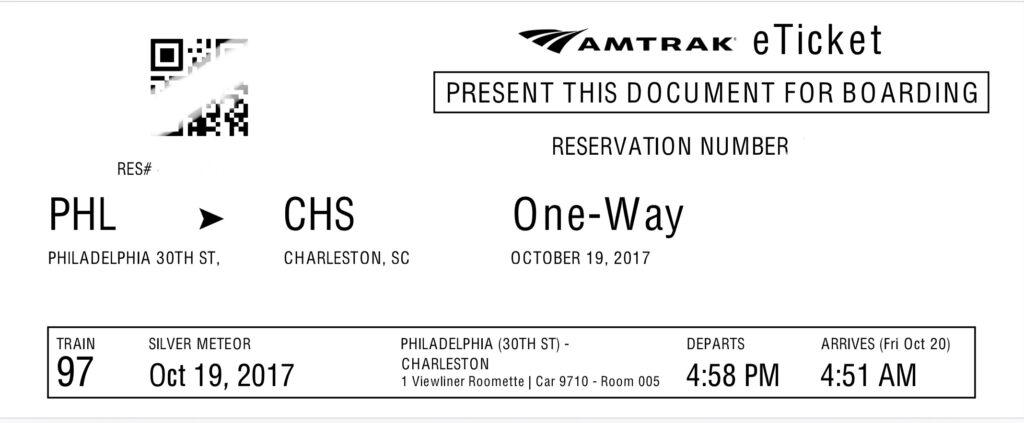 Amtrak Ticket