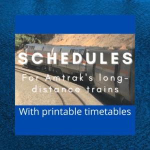 Amtrak's Long-Distance Train Schedules