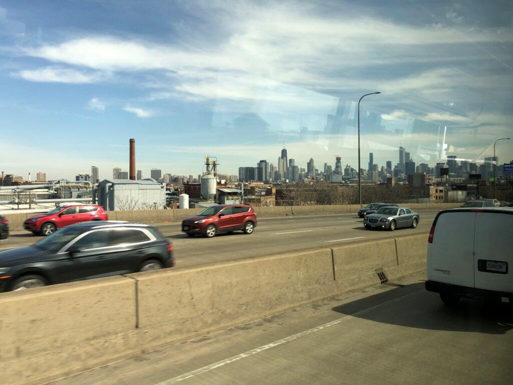 Chicago views from Greyhound
