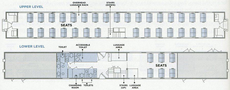 Amtrak Superliner Coach Car Diagram