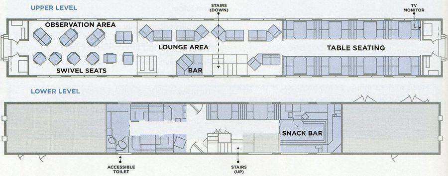 Amtrak Superliner Sightseer Lounge layout