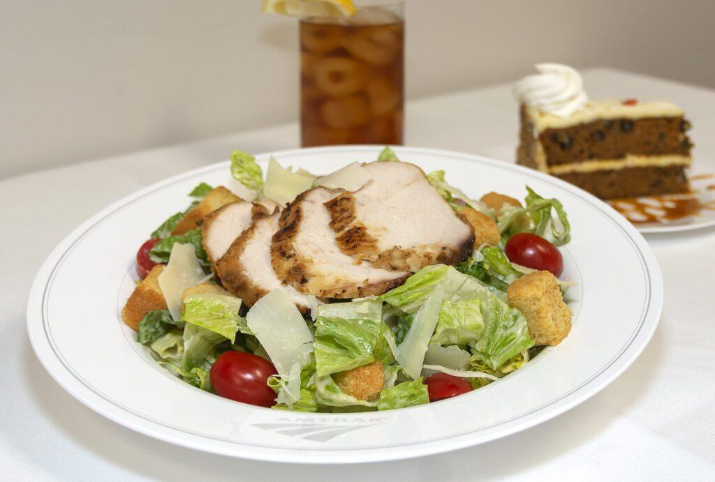 Amtrak's new chicken ceaser salad