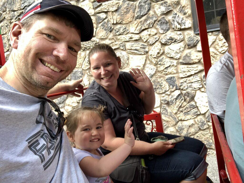 Riding Omaha zoo train