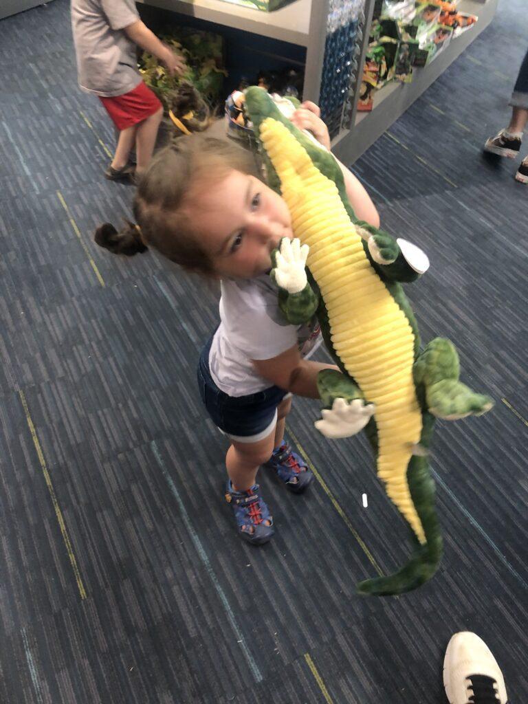 Mack and her alligator