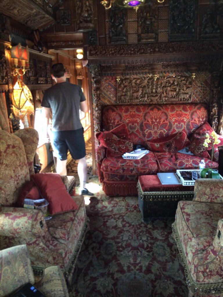 Inside of the Parton car