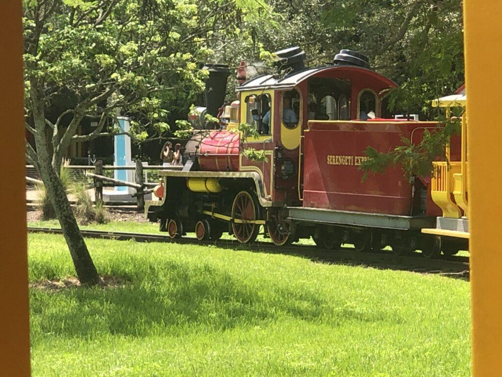 Steam train at Bush Gardens
